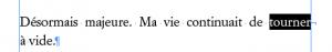 Au milieu d'une phrase, un retour forcé se transforme en retour simple dans le ePub.