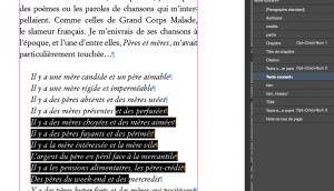 Un paragraphe ayant reçu des modifications manuelles doit obligatoirement recevoir une nouvelle feuille de style paragraphe pour que ses attributs soient conservés.